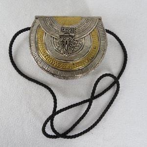 Free People Brass Metal Shoulder Bag